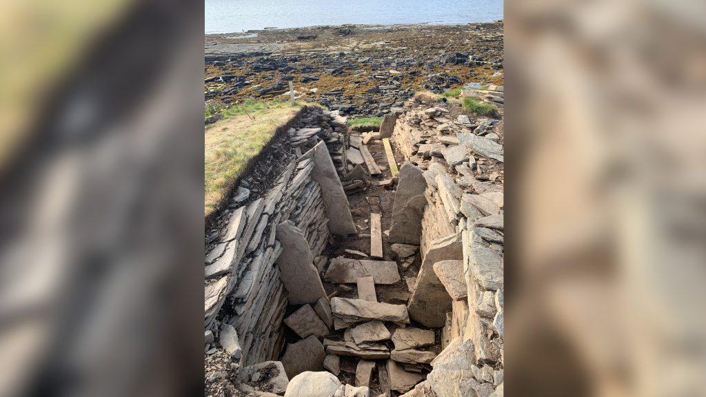 Image d'une tombe préhistorique en Ecosse