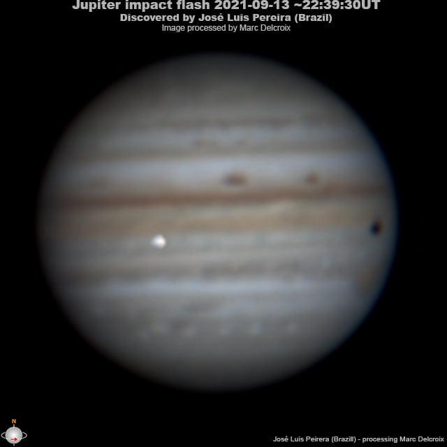 Impacto de asteróide com Júpiter registrado no Brasil