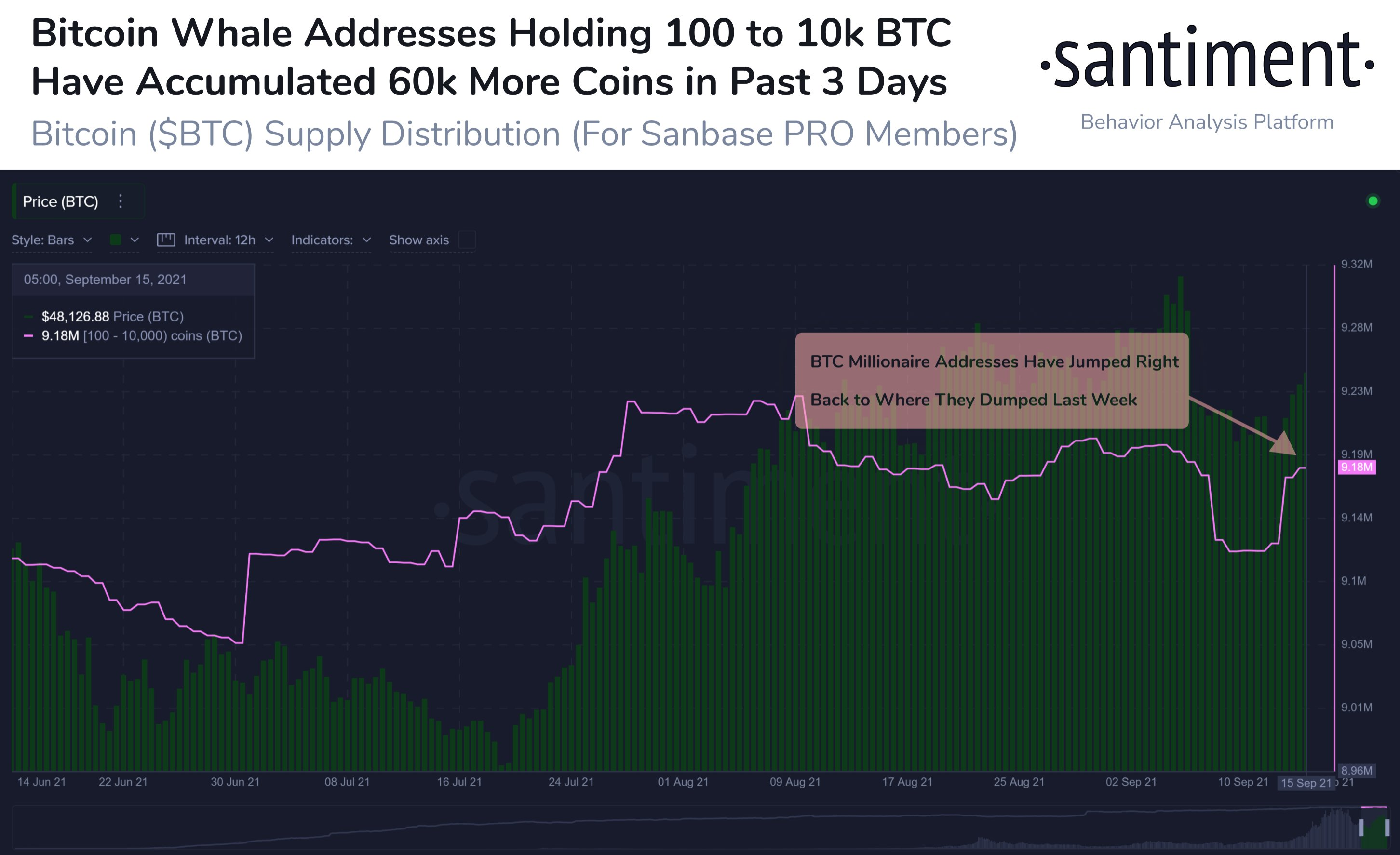 Accumulation de Bitcoin par les grands investisseurs de portefeuille