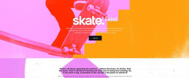 Skate reel plate-forme vidéos arts électroniques