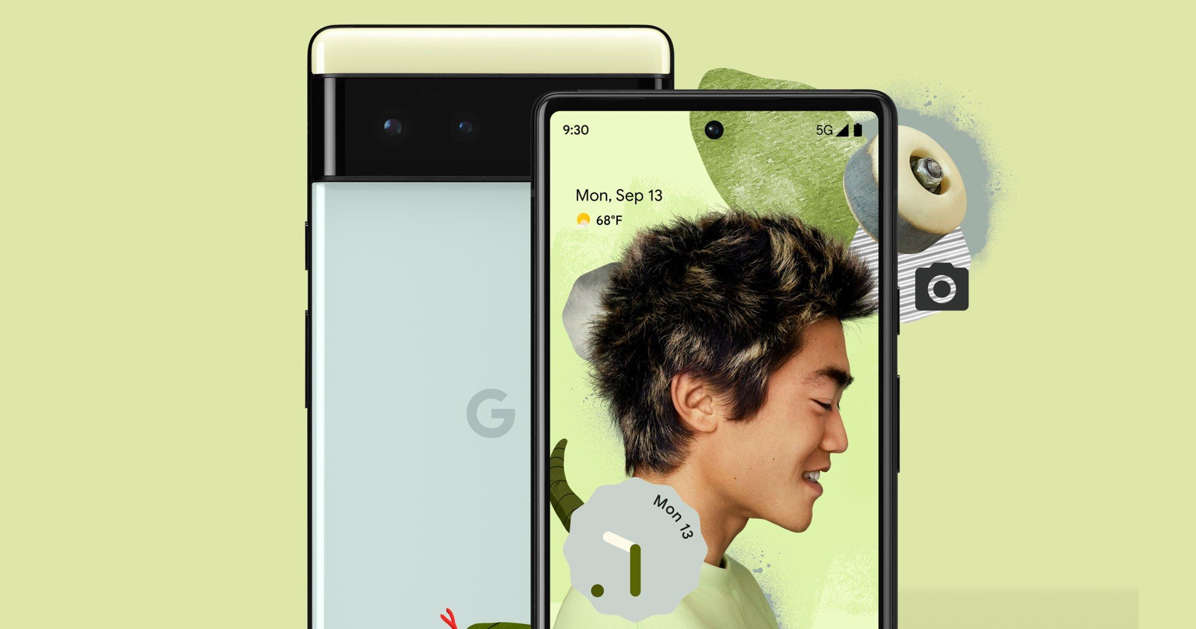 Google Pixel 6 en vert