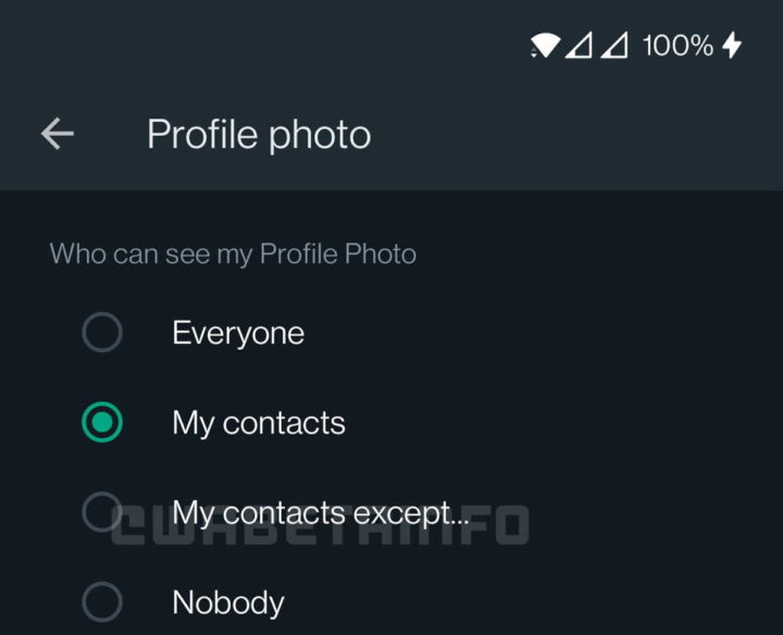 Service de messagerie d'actualités sur la confidentialité de WhatsApp