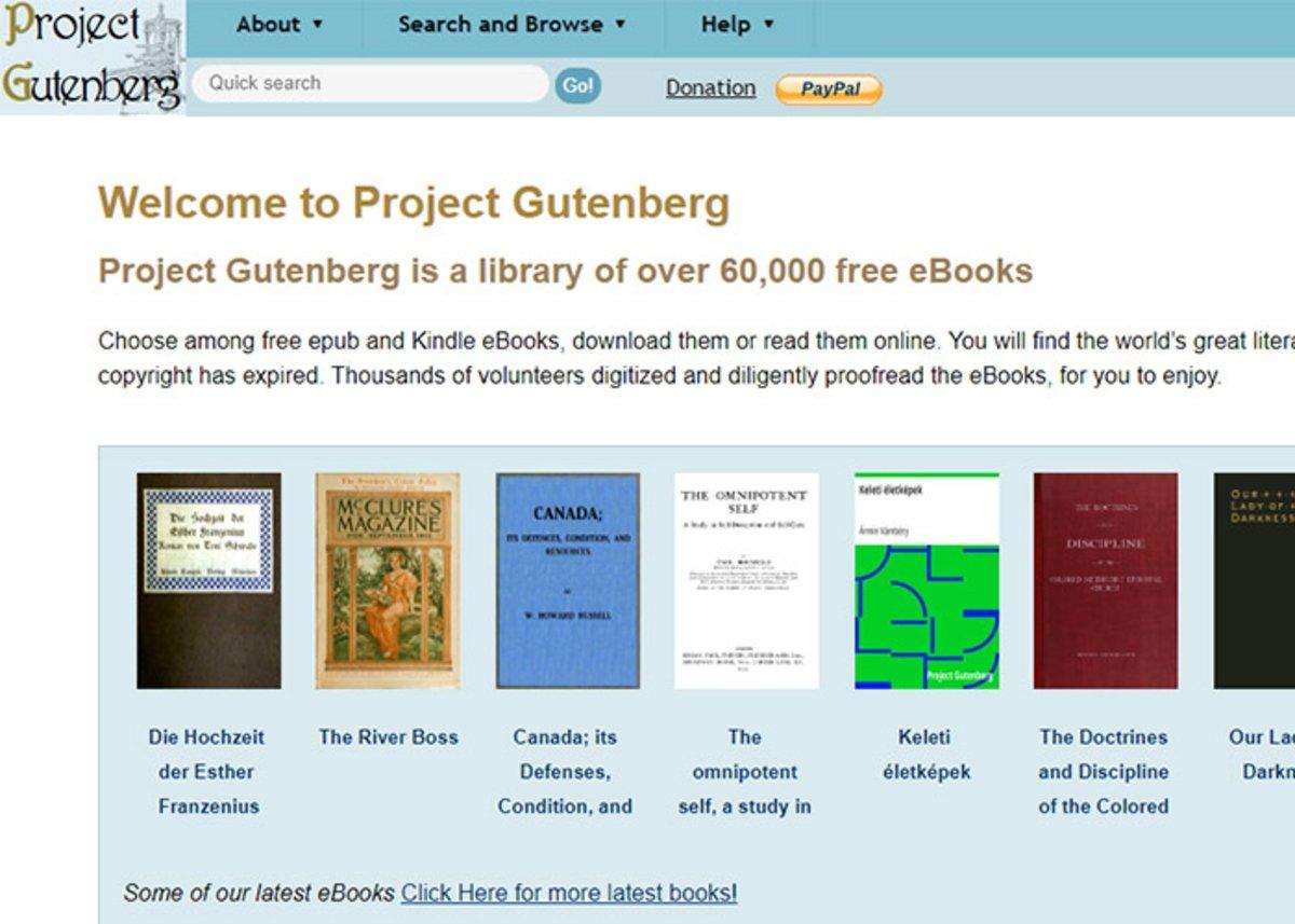 Gutenberg est l'un des meilleurs sites pour télécharger des livres légalement et gratuitement