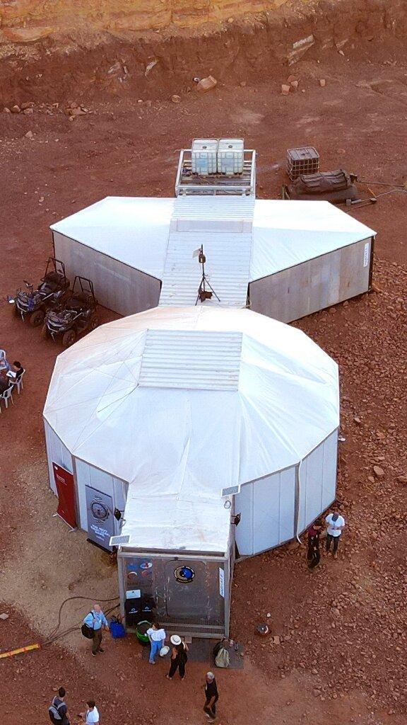 Base qui abritera des astronautes dans un projet qui simule la vie sur Mars en Israël