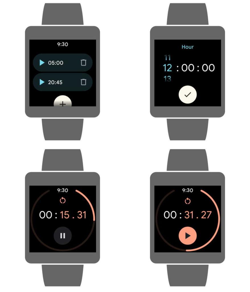 Les montres connectées Google Wear OS regardent Material You