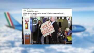 Ita Airways Remplace Alitalia, Mais Oublie Les Réseaux Sociaux :