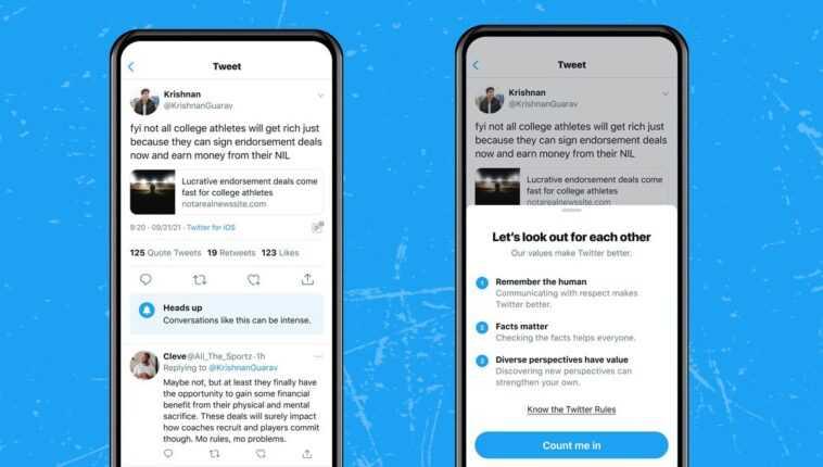 « Cette Conversation Peut Devenir Violente » : Twitter Vous