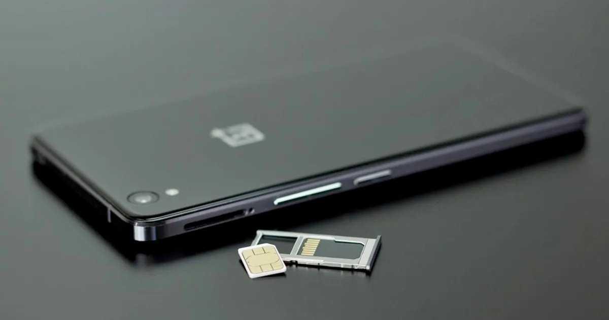 Emplacement pour carte MicroSD d'un mobile
