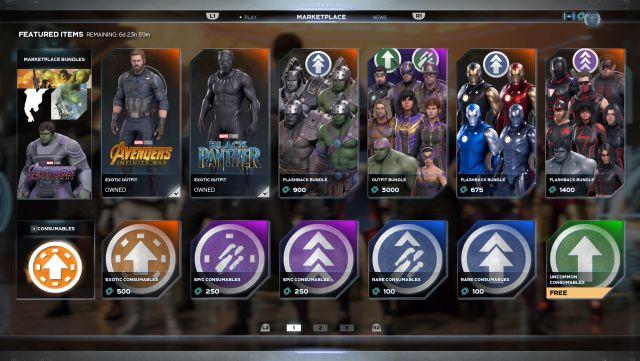 Marvel's Avengers comprend des accélérateurs d'expérience via des micropaiements et les manifestations de la communauté