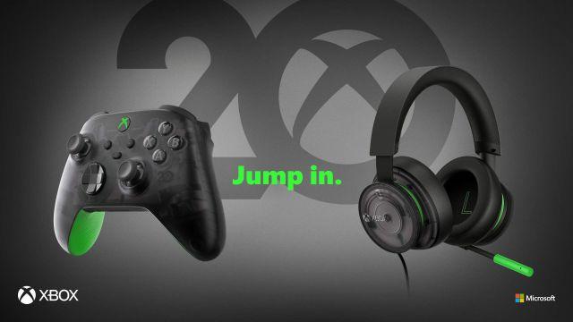 Accessoires commémoratifs du 20e anniversaire de la Xbox